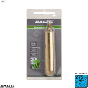 60g CO2 Cylinder m. clips - BALTIC 2460